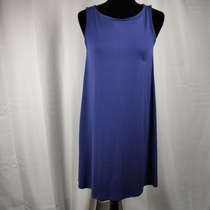 Eileen Fisher Blue Sleeveless Dress Petite Small